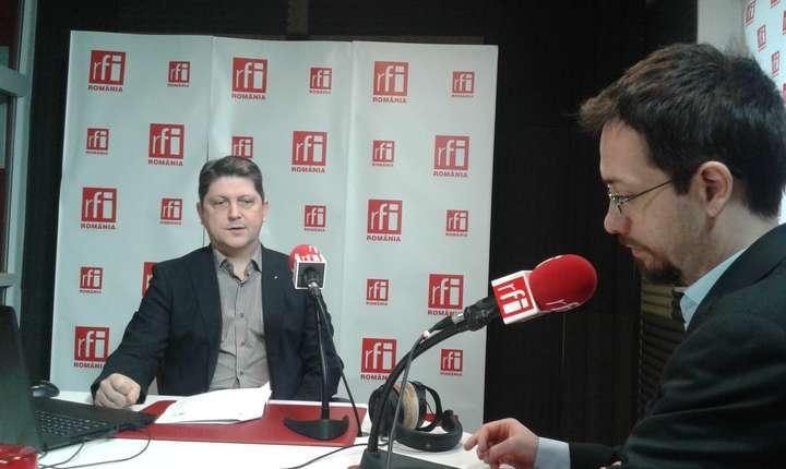 Titus Corlăţean, în studioul RFI (Foto: arhivă RFI)