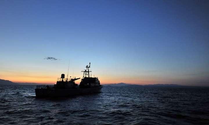 Vas al Pazei de Coastă greceşti, în zona insulei Agathonissi, imagine de arhivă (Foto: AFP/Aris Messinis)