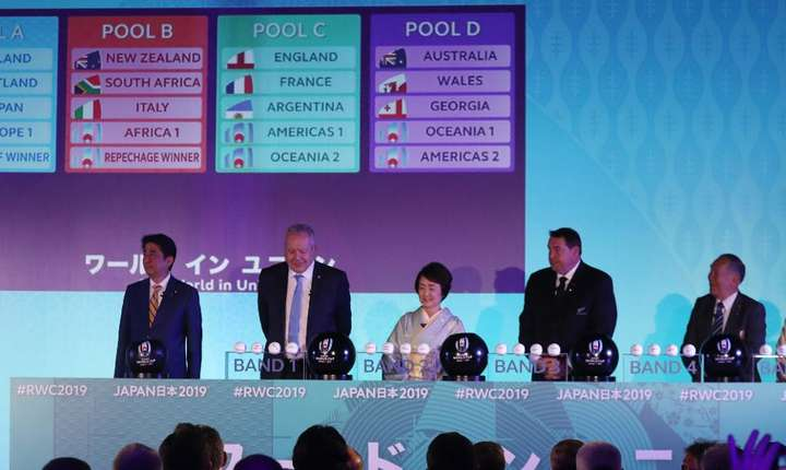 Tragere la sorți la Cupa Mondială de rugby 2019