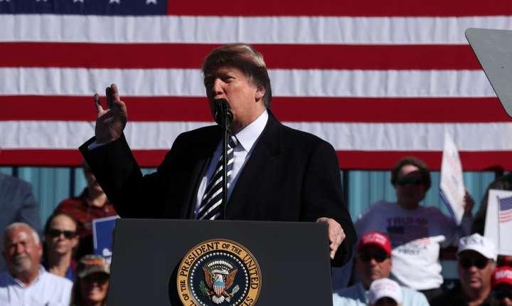 Anuntul lui Donald Trump a fost fàcut sâmbàtà, în timpul unui miting electoral la Elko, Nevada