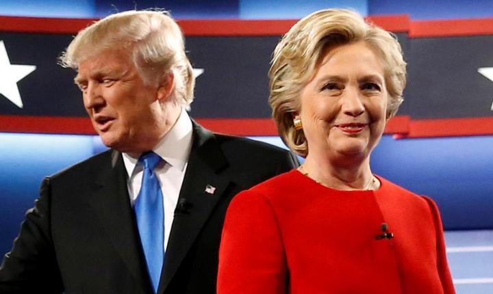 Donald Trump si Hillary Clinton la prima dezbatere televizatà din 26 septembrie 2016