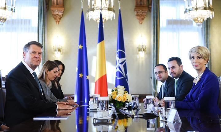 Consultări între preşedintele Klaus Iohannis şi PNL, la Cotroceni (Sursa foto: www.presidency.ro)
