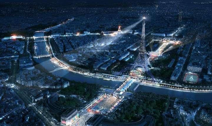 Turnul Eiffel în culorile JO 2024