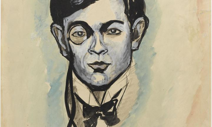 Tristan Tzara pictat de amicul sàu Francis Picabia