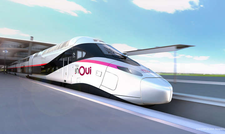 Un tren de mare viteza realizat de Alstom