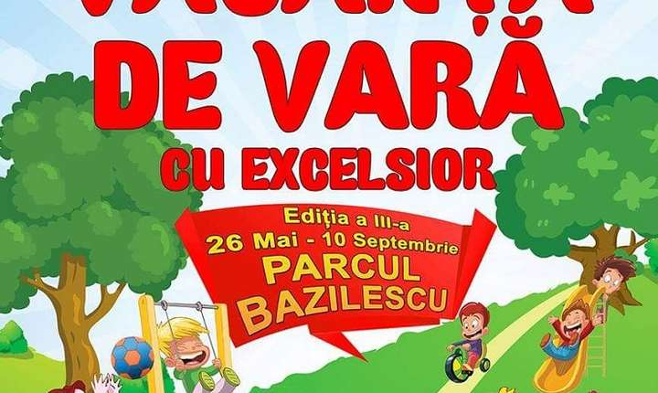 Afiș Festivalul Vacanța de vară cu Teatrul Excelsior