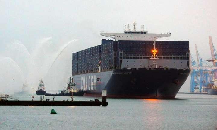 """Portcontainerul """"Saint-Exupéry"""" în portul Le Havre"""