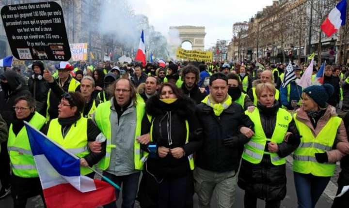 "A 13-a sâmbàtà de proteste ale ""vestelor galbene"", Paris, 9 februarie 2019"
