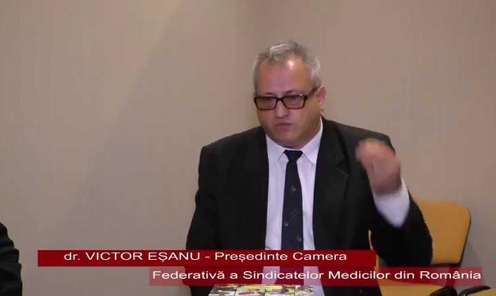 Preşedintele Camerei Federative a Sindicatelor Medicilor din România, Victor Eşanu (Sursă: YouTube)