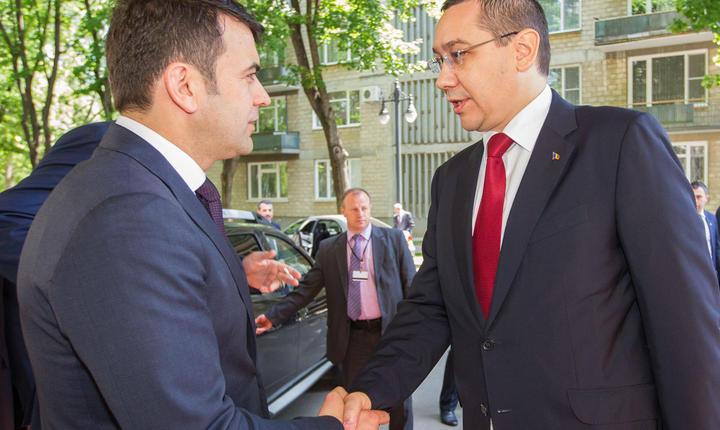 Victor Ponta, primit de Chiril Gaburici (Foto: www.gov.md)