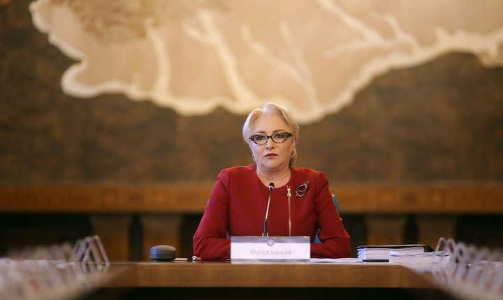 Premierul Viorica Dăncilă, în şedinţă de Guvern-arhivă (Sursa foto: gov.ro)
