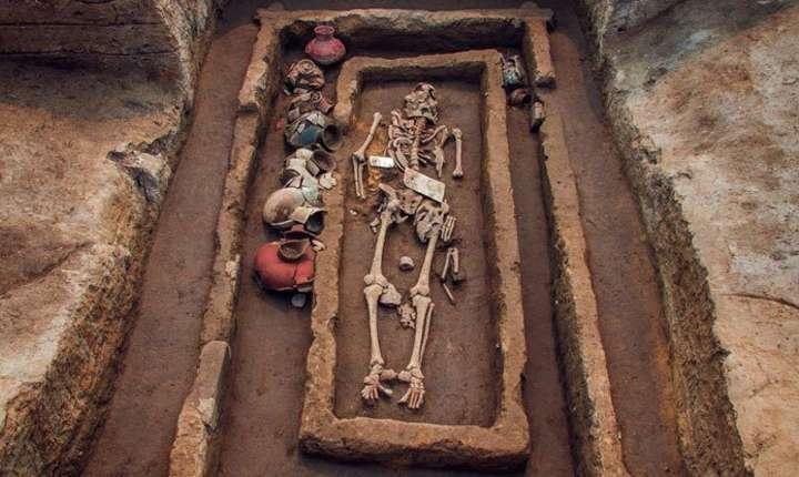 """Scheletul unui """"uriaş"""", descoperit în China (Sursa foto: Shandong University via sciencealert.com)"""
