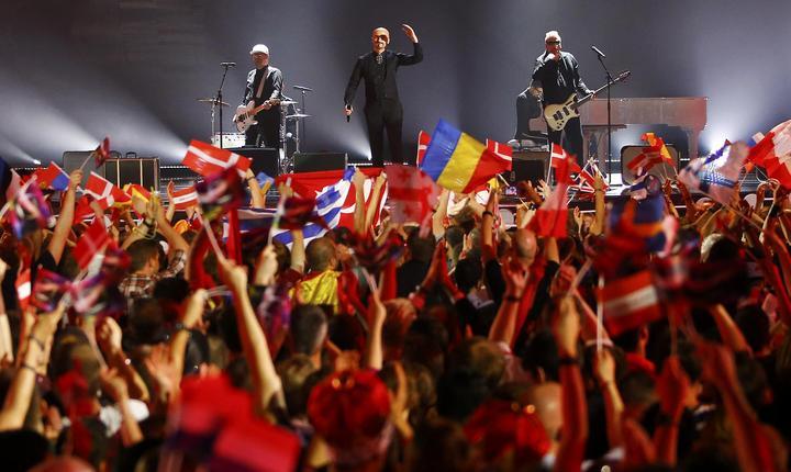 Trupa Voltaj, în prima semifinală a concursului Eurovision 2015, la Viena (Foto: Reuters/Leonhard Foeger)
