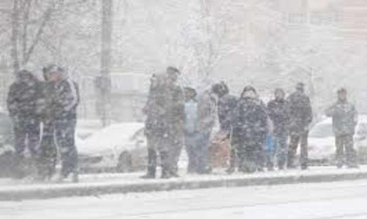 Sud-estul Romaniei a fost paralizat de ninsori si viscol
