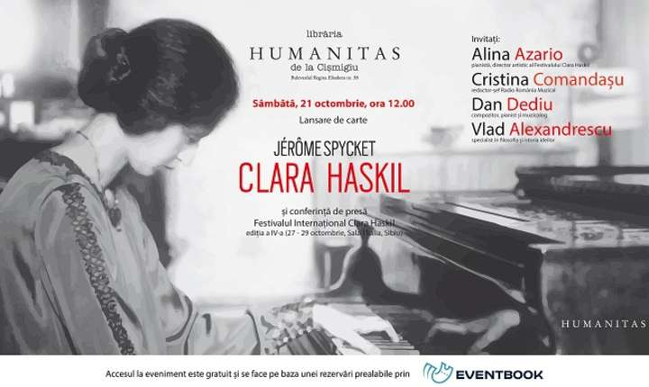 Lansare biografie Clara Haskil, de muzicologul francez Jérôme Spycket