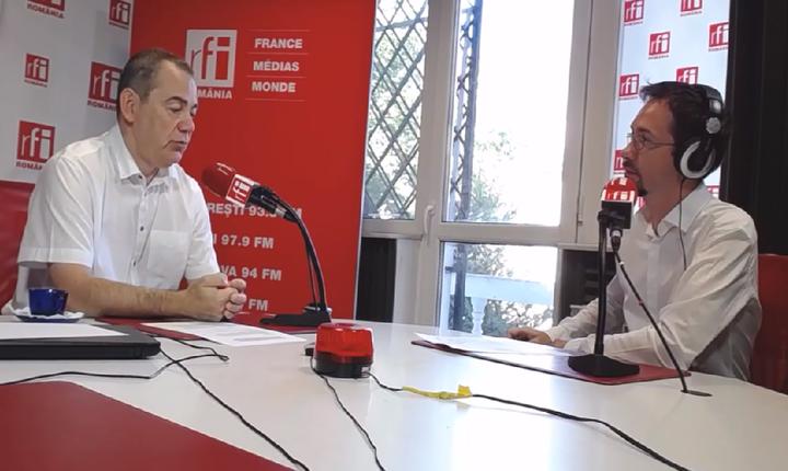 Vlad Alexandrescu, în studioul RFI-arhivă