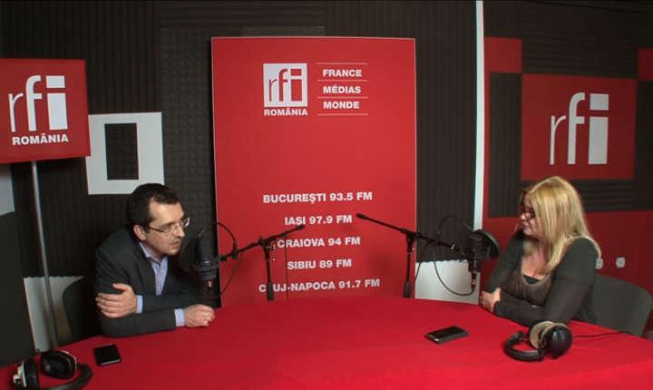 Vlad Voiculescu si Cristina Țopescu la RFI Romania