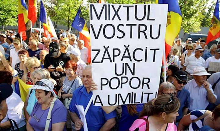 Proteste - vot mixt la Chisinau