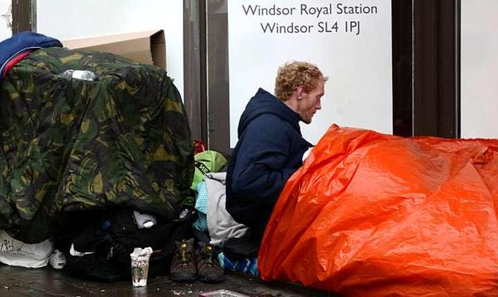 Pe străzile orașului Windsor dorm oameni fără adăpost