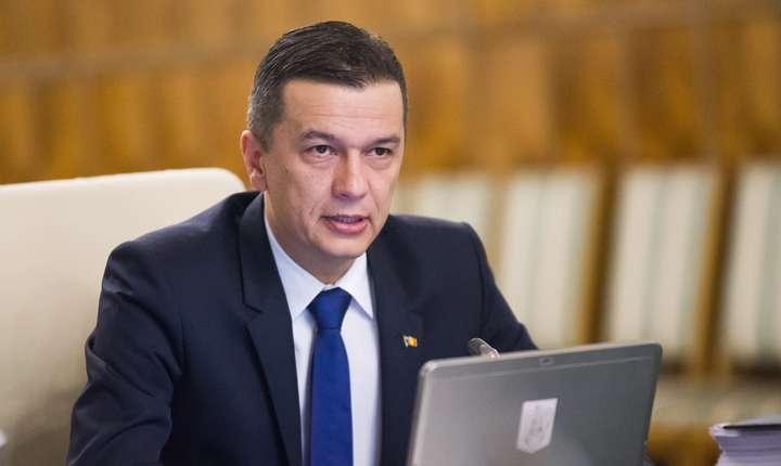 Sorin Grindeanu, în şedinţă de Guvern (Sursa foto: www.gov.ro)
