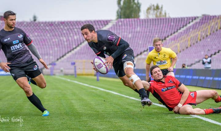 15 octombrie, Timișoara Saracens 17 Edinburgh Rugby 59, aripa Stephen Shennan marchează unul dintre cele două eseuri ale echipei sale pe stadionul Dan Păltinișanu, dezolant de gol