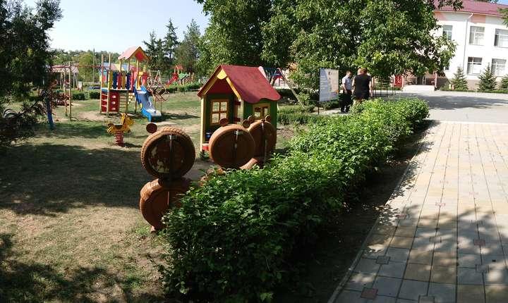 Loc de joaca in curtea gradinitei