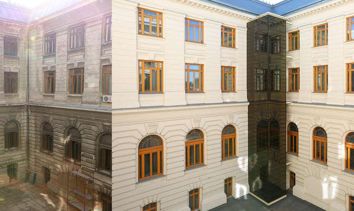 Fatada interioara a Palatului Patriarhiei
