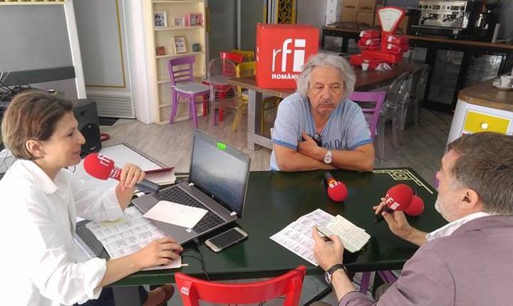 cu Matei Vișniec și Alexandru Grecu, președintele Uniunii Teatrale din R. Moldova