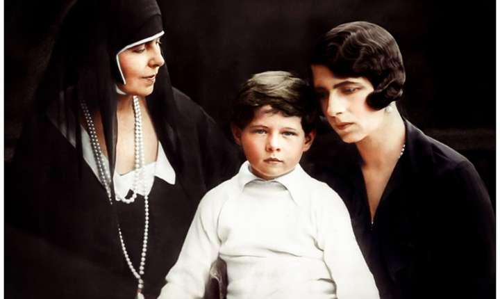 A.S.R Principele Mihai alaturi de Regina Maria si Principesa Elena a Greciei