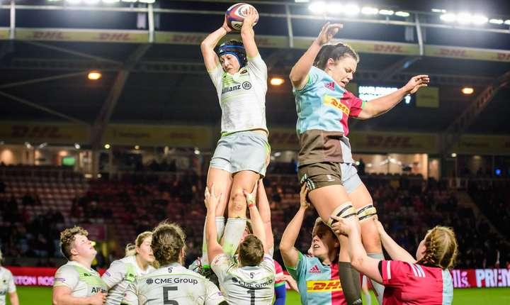 În 2017 rugby-ul feminin a ajuns în prim plan prin Cupa Mondială. În Anglia prima ediție semi-profesionistă a campionatului a fost dominată de Harlequins și Saracens, cele din urmă învingătoare în derby-ul dintre ele cu 28 - 19