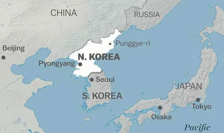 Harta Coreei de Nord