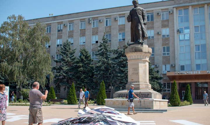 Statuia lui Vasile Lupu din Orhei