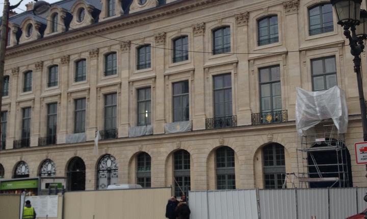 Fatada hotelui Ritz, place Vendôme