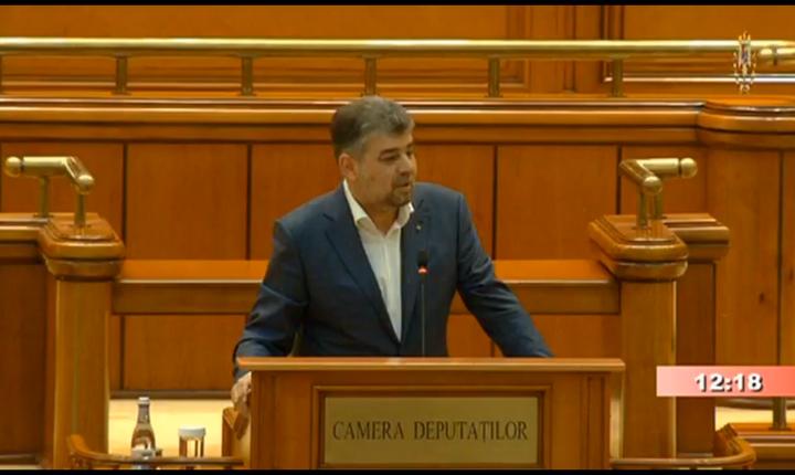 Marcel Ciolacu îi ironizează pe adversarii PSD (captură video)