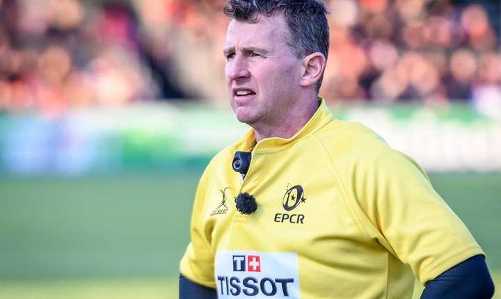 Meciul a fost arbitrat de de celebrul arbitru galez Nigel Owens