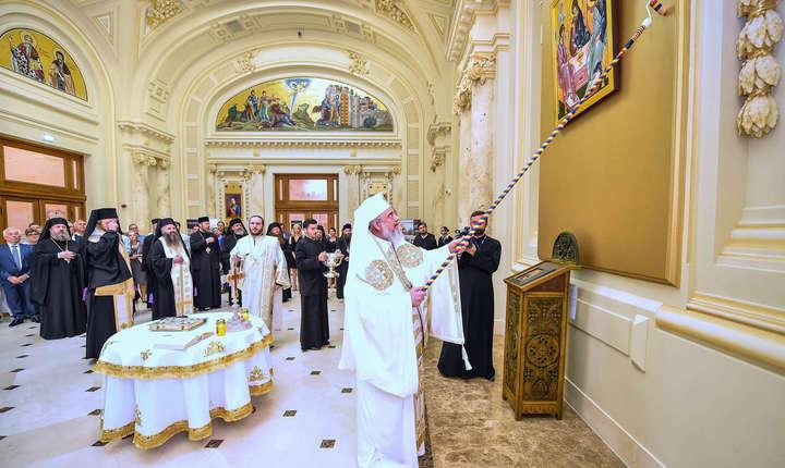 Preafericitul Părinte Patriarh Daniel sfințind holul Europa Christiana