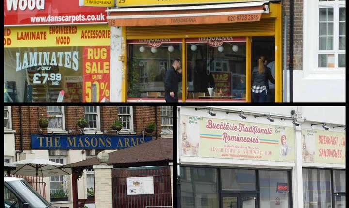 Nelipsite din peisaj sunt restaurantele românești (unele dintre ele foste pub-uri, ca Masons Arms din Edgware), care sunt pline mai ales la sfârșit de săptămână
