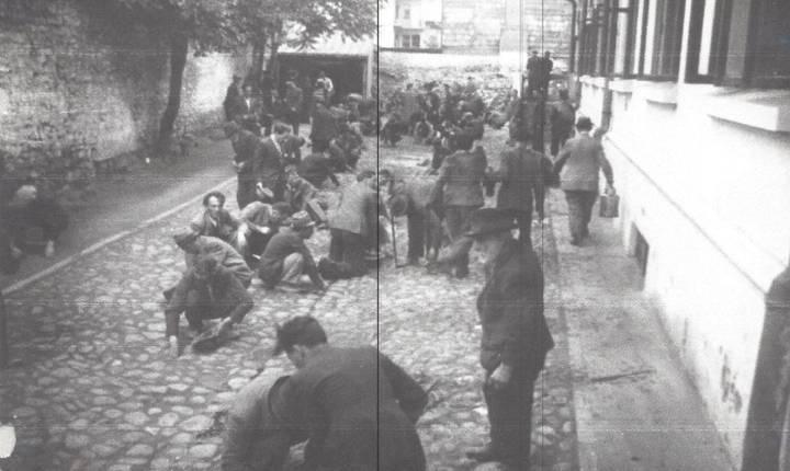 După execuții, evreii au fost oblifgați să spele de sânge caldarâmul curții Chesturii