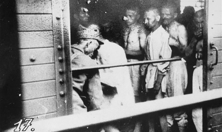 Evreii au fost urcați în vagoane de vite, fără apă sau mâncare și unde mulți s-au sufocat din lipsă de aer