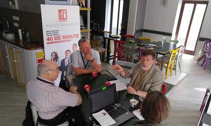 cu Matei Vișniec, Emile Lansman și Stanislas Cotton