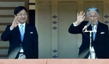 Prinţul moştenitor Naruhito şi tatăl său Împăratul Akihito