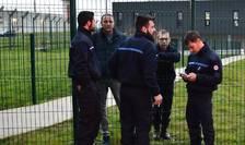 Gardieni care au blocat în semn de protest închisoarea de la Condé-sur-Sarthe, 6 martie 2019.