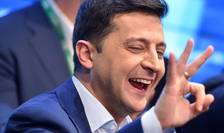 Volodimir Zelenski la Kiev, pe 21 aprilie 2019.
