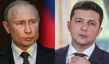 Vladimir Putin şi Volodimir Zelenski
