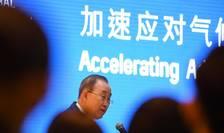 Ban Ki-moon la prezentarea raportului privind adaptarea, Beijing, 10 septembrie 2019