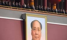 Liderii chinezi la tribuna oficială în jurul lui Xi Jinping, 1 octombrie 2019, Beijing