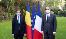 Prim-ministrul Ludovic Orban a participat, împreună cu prim-ministrul Republicii Franceze, Jean Castex, la ceremonia de semnare a unor documente bilaterale