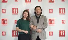 Monika Caracudă și Dan Pavel in studioul RFI Romania