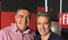 Andrew Costin și Nicolas Don in studioul de inregistrari RFI ROmania