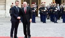 Emmanuel Macron si Vladimir Putin la Versailles, 29.05.2017